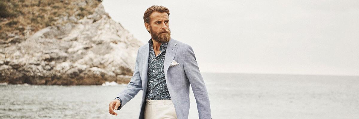 Turo Tailor suorat housut, Helsinki Tummansininen Kekäle