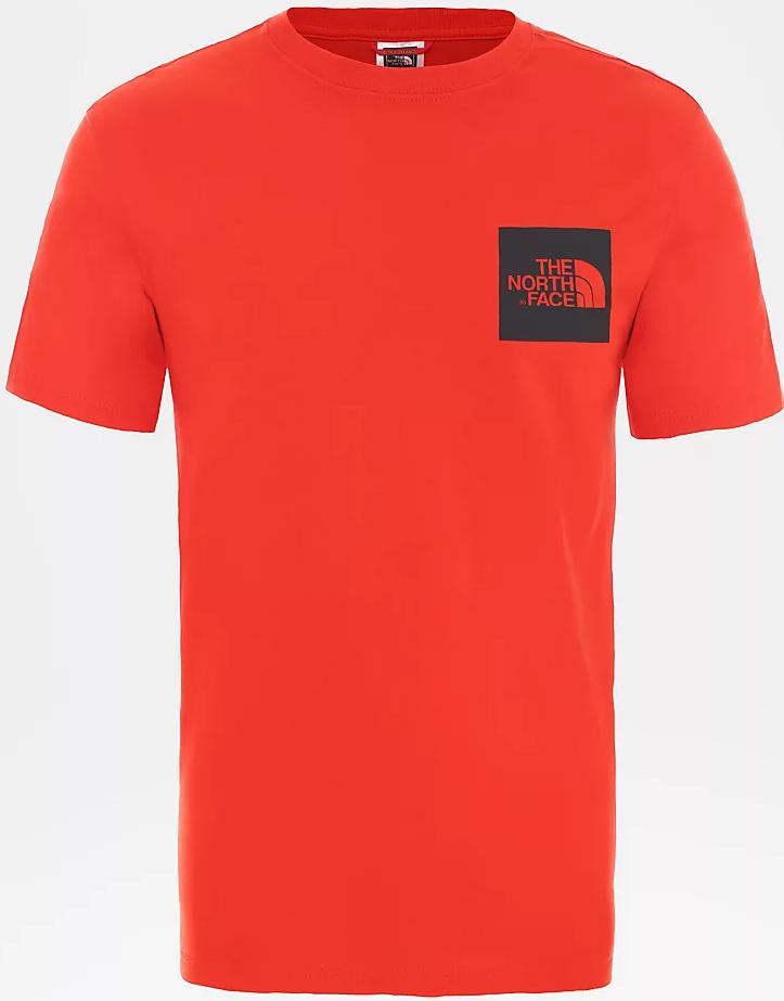 North Face Miesten T-paita, Ss Fine T Kirkkaanpunainen