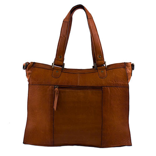 Redesigned Nahkalaukku, Molly Bag Large Konjakinruskea