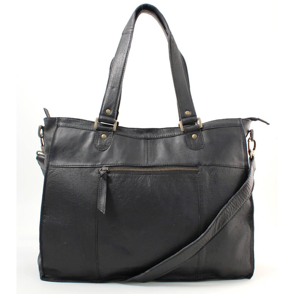 Redesigned Nahkalaukku, Molly Bag Large Musta