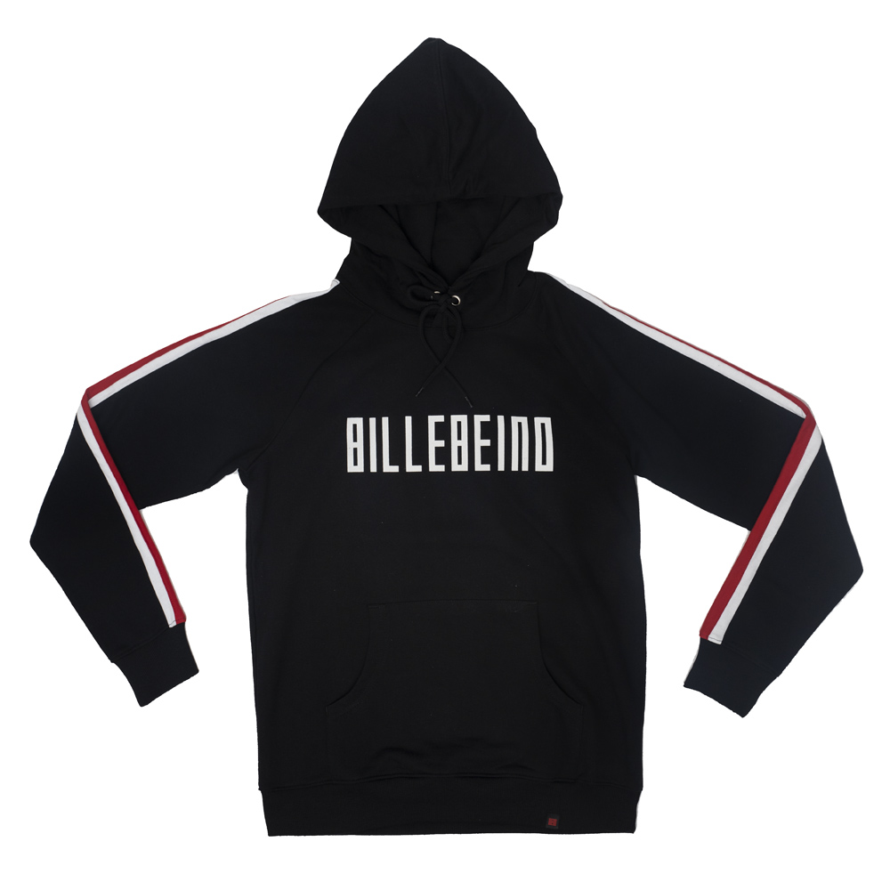 Billebeino Collegehuppari, With Stripers Hoodie Musta