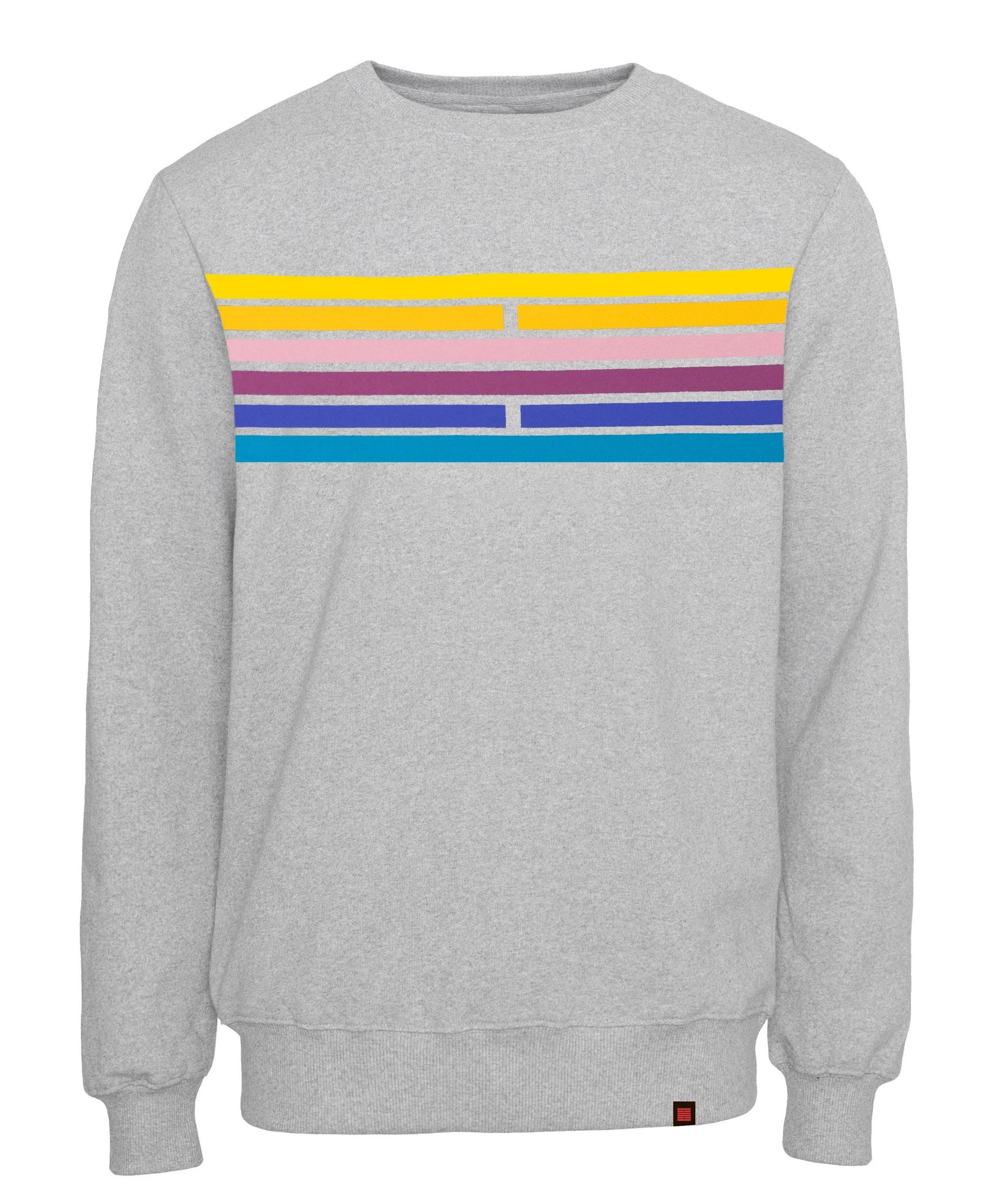 Billebeino Collegepusero, Scale Sweater Vaaleanharmaa