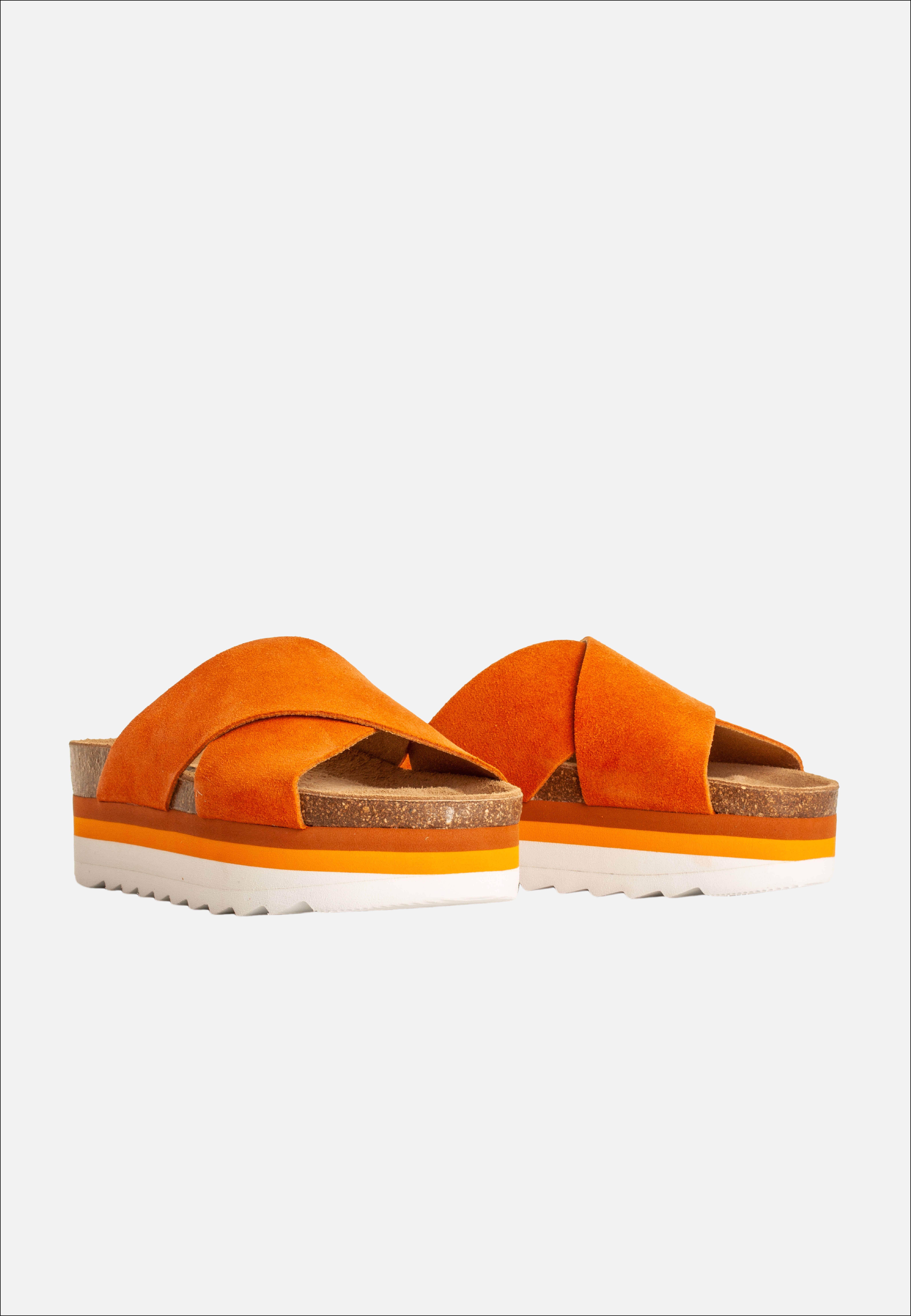 Blue On Blue Naisten Sandaali, Debb Oranssi