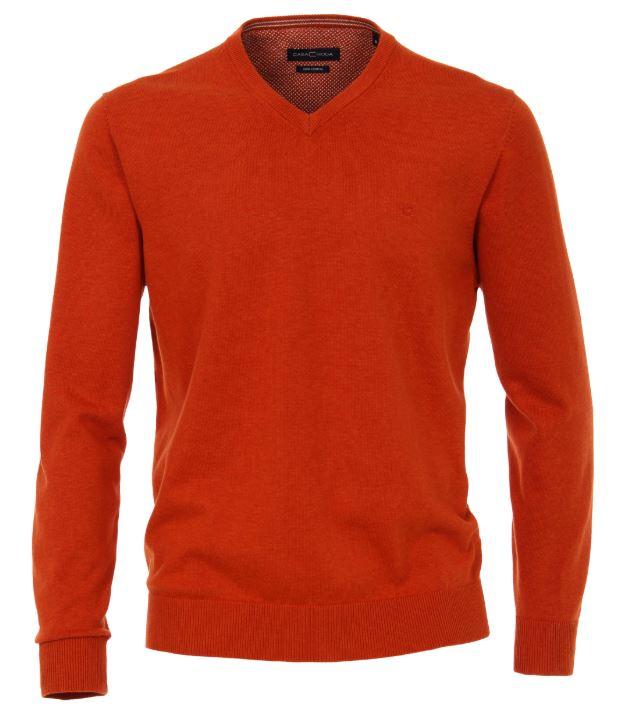 Casa Moda Miesten Neule, Pima Cotton Oranssi