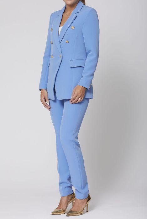 Karen by Simonsen Sydney Striped - Pitkä Takki Naiset Blue Vaatteet Takit Bleiserit Muodikkain