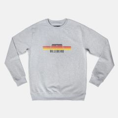 Billebeino Collegepusero, Sweater With Berlin Print Keskiharmaa
