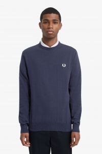 fred-perry-neule-classic-cotton-jumper-tummansininen-1