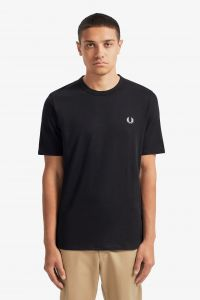 fred-perry-t-paita-taped-side-t-shirt-musta-1