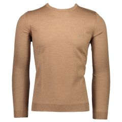 Hugo Boss Miesten Neule, Botto-L Extrafine Merino Beige