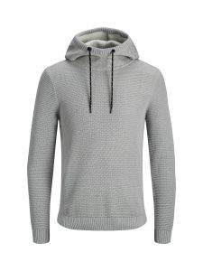 Jack and Jones huppari, JCOSPRUCE KNIT HOOD K Keskiharmaa