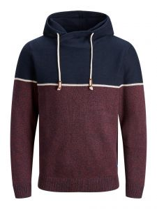 Jack and Jones huppari, JOBRAYSON KNIT HOOD Viininpunainen
