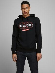 jack-and-jones-miesten-huppari-booster-sweat-hood-musta-1