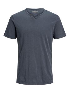 jack-and-jones-miesten-t-paita-split-neck-tee-ss-tummansininen-1
