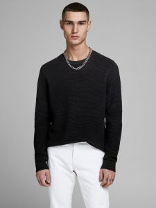 Jack and Jones neulepusero, ELIAM KNIT CREW Musta