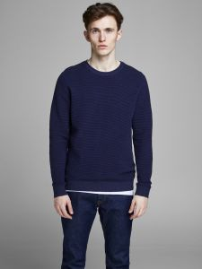 Jack and Jones neulepusero, ELIAM KNIT CREW Tummansininen