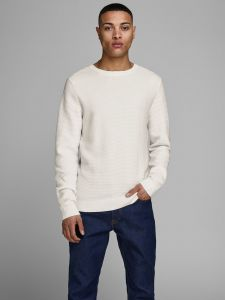 Jack and Jones neulepusero, ELIAM KNIT CREW Vaaleanharmaa