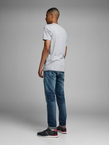 Jack and Jones t-paita, DORSEY TEE Vaaleanharmaa
