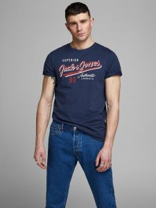 Jack and Jones t-paita, JJELOGO TEE SS CREW Tummansininen