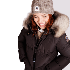 Parajumpers Naisten Untuvatakki, Light Long Bear Down Jacket Tummanruskea