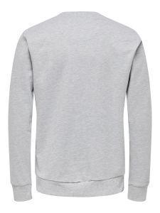 Only and Sons Miesten Collegepusero, Coca Cola Xmas Regular Sweat Keskiharmaa
