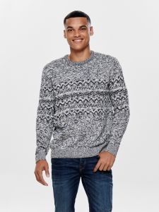only-and-sons-miesten-neule-tomas-knit-harmaa-kuosi-1