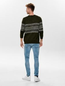 only-and-sons-miesten-neule-tomas-knit-vihrea-kuosi-2