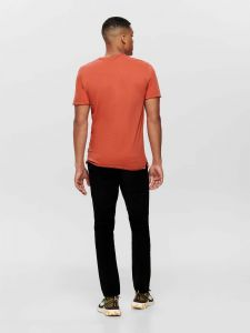 only-and-sons-miesten-t-paita-albert-o-neck-oranssi-2