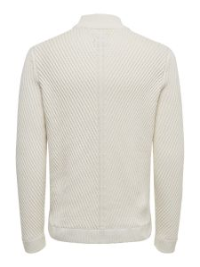 Only and Sons Miesten Neule, Roland 7 Structure Knit Valkoinen