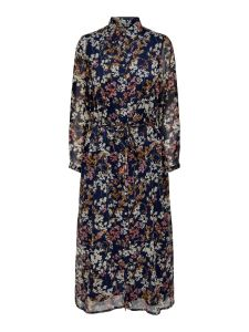 only-naisten-mekko-daisy-ls-ancle-shirt-dress-sininen-kuosi-1