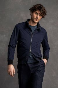 Oscar Jacobson Miesten Takki, Harry Jacket Stretch Sport Innovation Tummansininen