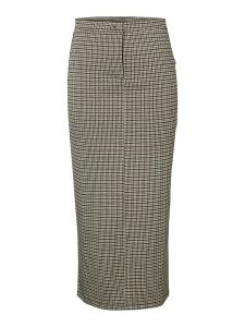 pieces-naisten-hame-huberta-pencil-skirt-ruskea-ruutu-1
