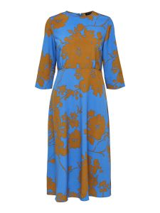 selected-femme-naisten-mekko-jade-oriana-3-4-midi-dress-sininen-kuosi-1