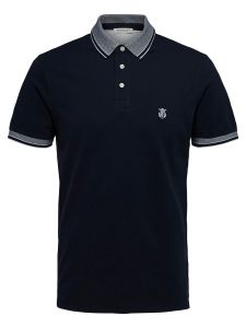 selected-miesten-pikeepusero-twist-polo-tummansininen-1