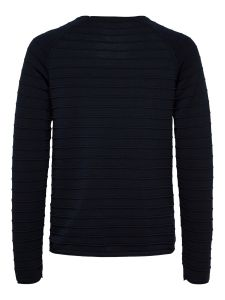 selected-miesten-puuvillaneule-troy-crew-neck-tummansininen-2