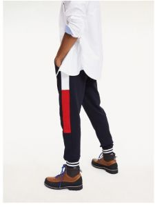 Tommy Hilfiger Miesten Collegehousut, Color Block Sweatpants Tummansininen