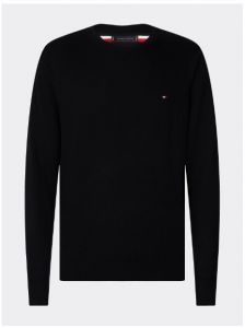 tommy-hilfiger-miesten-neule-luxory-touch-crew-neck-musta-1
