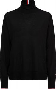 tommy-hilfiger-naisten-pooloneule-essential-rollneck-sweater-musta-1