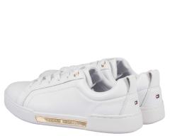 tommy-hilfiger-naisten-nahkakengat-th-branded-outsole-metallic-sneaker-valkoinen-2