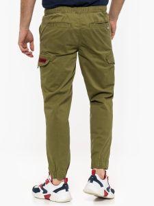 tommy-jeans-miesten-housut-tapered-cuffed-cargo-armeijanvihrea-1