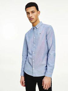 tommy-jeans-miesten-kauluspaita-slim-strech-oxford-keskisininen-1