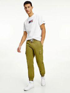 tommy-jeans-miesten-housut-ethan-cargo-jogger-armeijanvihrea-1