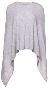 Kn-Collection Neuleponcho, Ania Solid Vaaleanharmaa