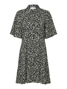 selected-femme-naisten-mekko-slfuma-274-short-dress-musta-kuosi-1