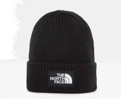 North Face, Pipo, Logo Box Cruffed Beanie Musta