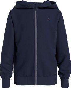Tommy Hilfiger Childrenswear, Lasten Huppari, Essential Hooded Zip Through Tummansininen