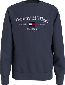 Tommy Hilfiger Childrenswear Lasten Collegepaita TH ARTWORK CN SWEATSHIRT Tummansininen