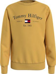 Tommy Hilfiger Childrenswear Lasten Collegepaita TH ARTWORK CN SWEATSHIRT Kirkkaankeltainen