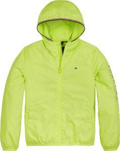 Tommy Hilfiger Childrenswear, Lasten Kevättakki, Essential Hooded Logo Jacket Keltainen