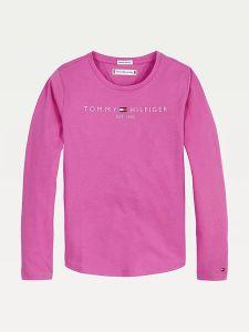 Tommy Hilfiger Childrenswear Lasten Pitkähihainen T-paita ESSENTIAL TEE L/S Fuksianpunainen