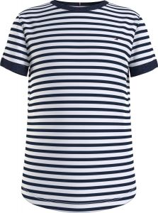 Tommy Hilfiger Childrenswear, Lasten T-Paita, Essential Stripe Top S/S Raidallinen Sininen